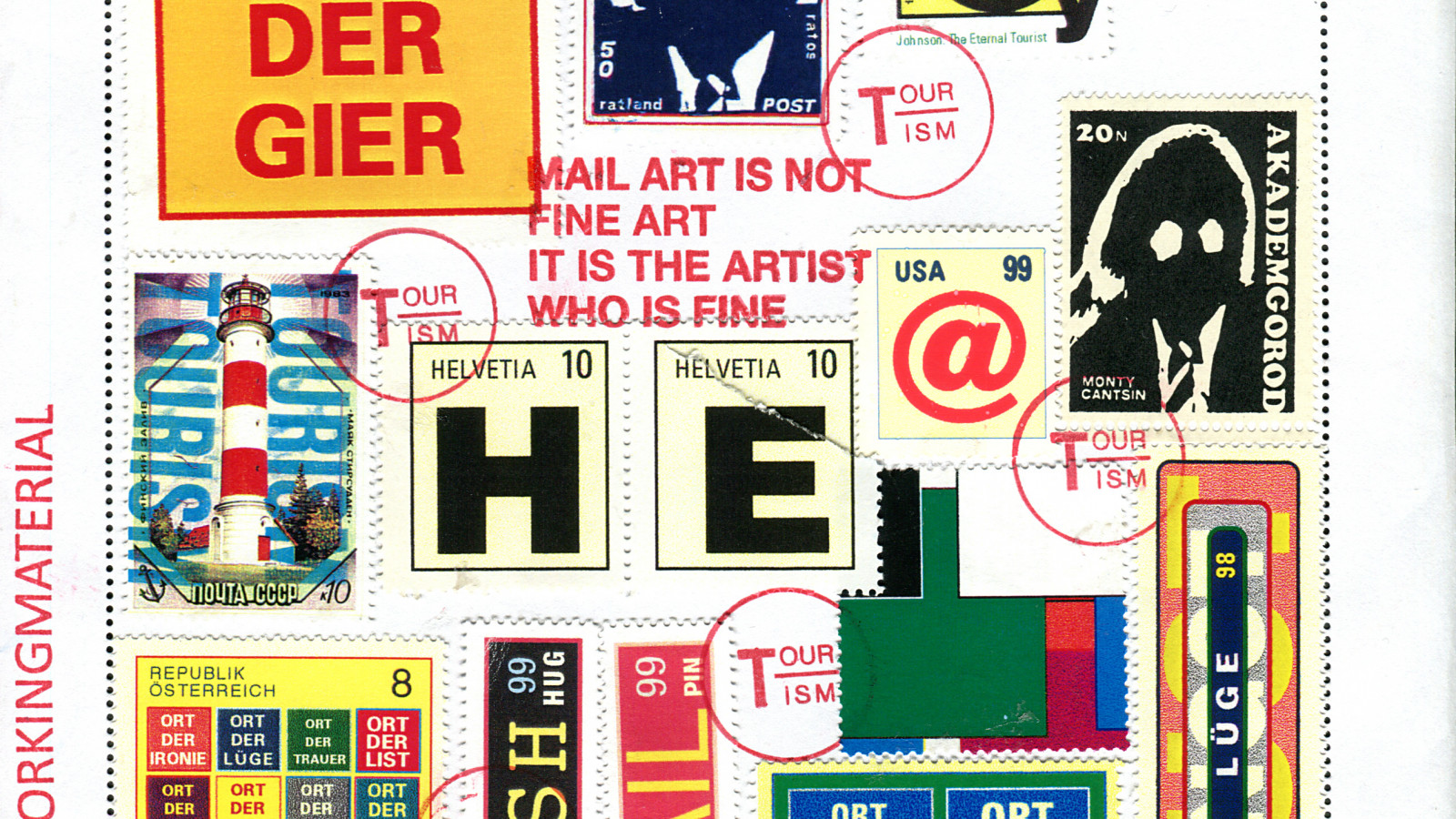 Mail art from H.R.Fricker