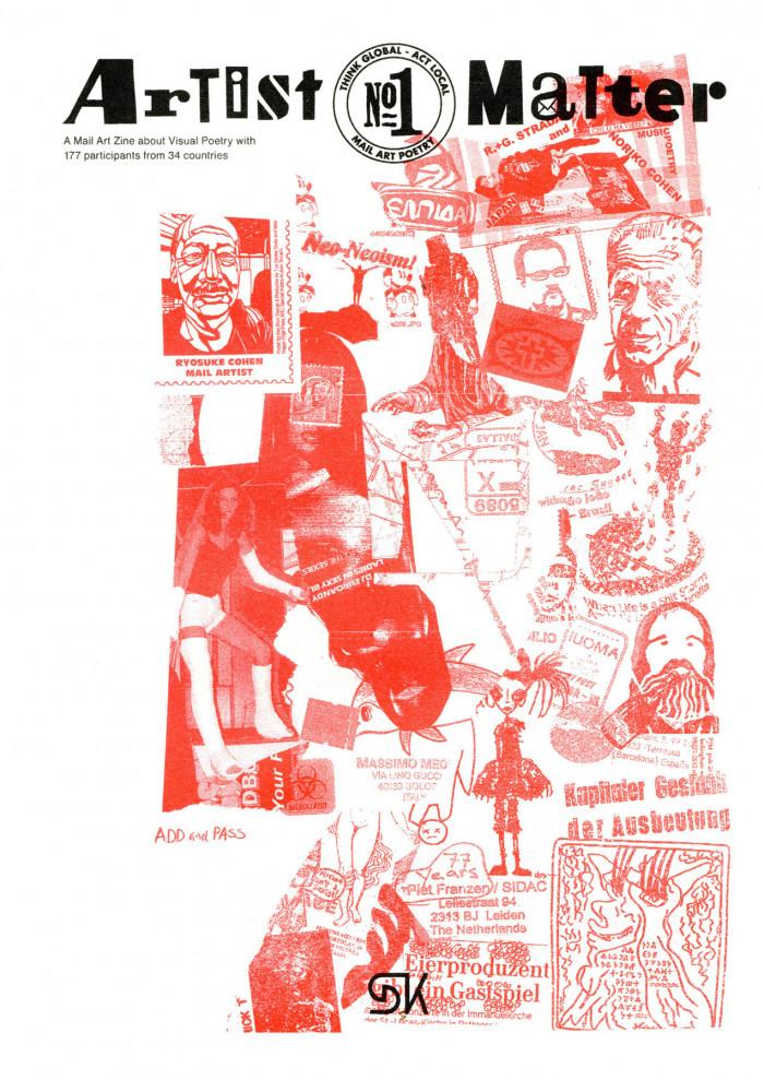Artist Matter Zine #1 Cover