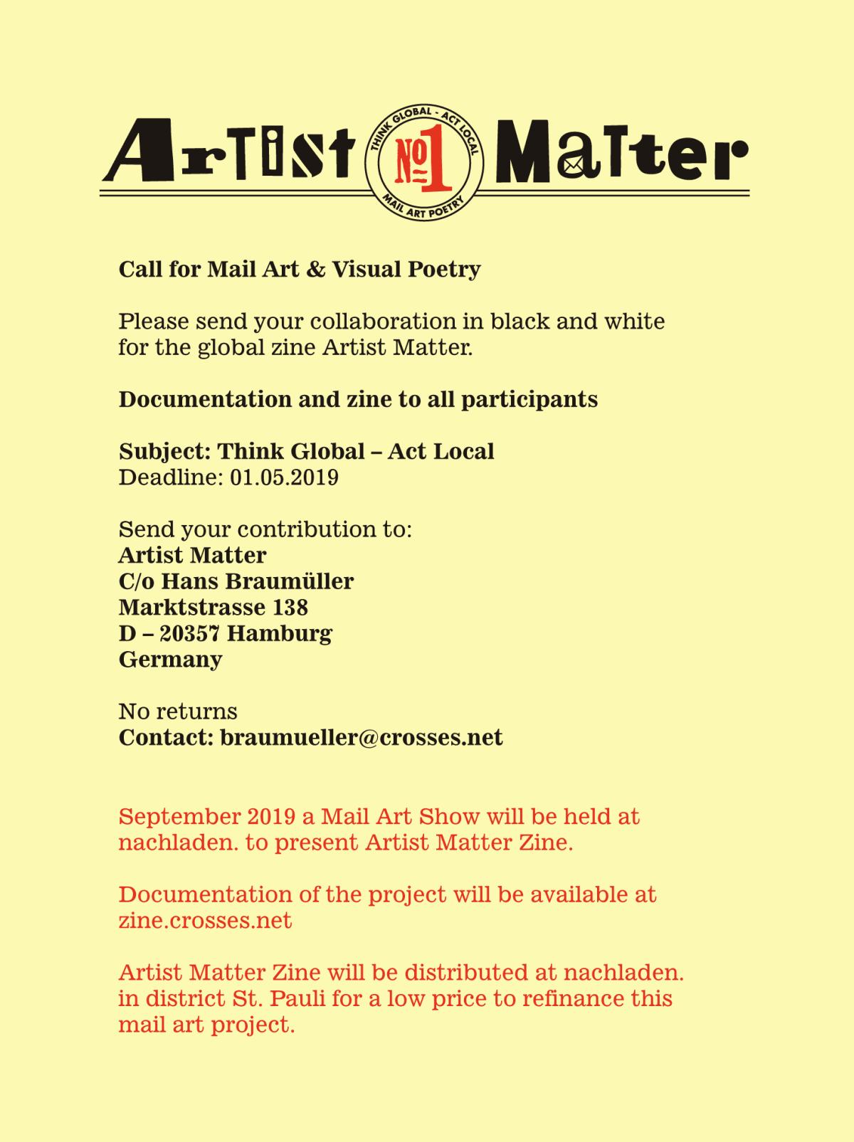 artist matter invitation